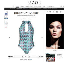harpers bazaar online one piece swimsuit zebra/deer ekat fashion swimwear