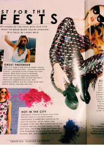 sunday times style flamingo/flower katsuit ekat festival fashion