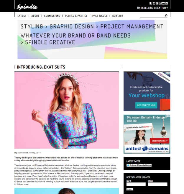 spindle magazine ekat ekatsuits frog/rose leotards