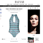 harpers bazaar online one piece swimsuit zebra/deer ekat fashion swimwear